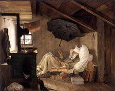 "Carl Spitzweg (1808-1885) was a German romanticist painter and poet ~ ""The Poor Poet"""