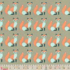 Craft Cotton - Poplin Foxes Grey