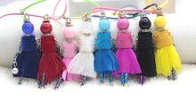 2015 nouvelle livraison gratuite enfants plume poupée collier! Bijoux mignons Baby Doll collier pendentifs cire corde accessoires Bijoux NS325(China (Mainland))