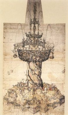 Albrecht Dürer - Sketch of a Table Fountain. N.d.