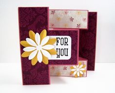 Handmade Card - For You - Pink and Purple with Flowers