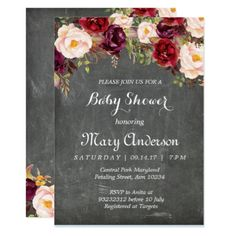 Rustic Winter Baby Shower Invite - invitations personalize custom special event invitation idea style party card cards