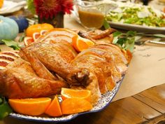 Get Fried Turkey with Simple Gravy Recipe from Cooking Channel