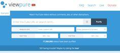 ViewPure : pour utiliser en classe les vidéo de Youtube sans les pubs, les suggestions et les commentaires