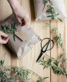 Try one of these 8 eco friendly gift wrap ideas for any occasion! From creative wrapping paper to DIY gift bow toppers, the planet will thank you! Butcher Paper, Christmas Wrapping, Christmas Crafts, Simple Christmas, Homemade Soap Recipes, Brown Paper Packages, Gift Bows, Simple Gifts, Gift Packaging