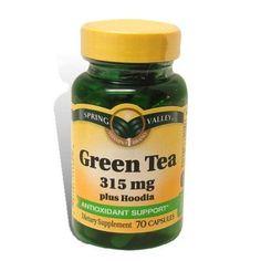 Spring Valley - Green Tea 315 mg Plus Hoodia, 70 Capsules Green Tea For Weight Loss, Weight Loss Tea, Best Weight Loss, Body Weight, Lose Weight Naturally, How To Lose Weight Fast, Lose Fat, Green Tea Pills, Green Tea Extract Pills