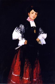 robert henri paintings | Spanish Girl of Madrid Painting by Robert Henri | Oil Painting