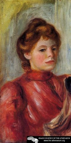 Portrait of a Woman  Pierre Auguste Renoir