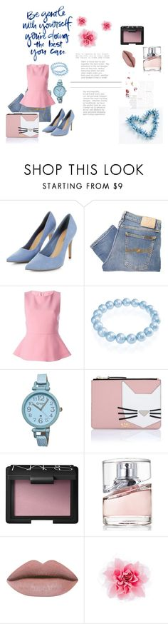 """""""Pastels"""" by dzeneta25 ❤ liked on Polyvore featuring Nudie Jeans Co., Marni, Bling Jewelry, Crayo, Karl Lagerfeld, NARS Cosmetics and HUGO"""