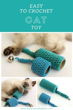 CUTE TOYS: Easy to Crochet Cat Toy; Kittens have so much energy and they play non-stop so I thought it would be fun to make some cat toys! I love how it turned out! Go check it out!Entertain your pet with this easy to crochet cat toy. Free pattern in Chat Crochet, Crochet Cat Toys, Crochet Animals, Diy Jouet Pour Chat, Diy Laine, Kitten Toys, Ragdoll Kittens, Funny Kittens, Tabby Cats