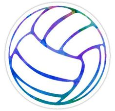 Volleyball Watercolor Stickers