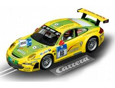 "The Carrera Porsche GT3 RSR Manthey Racing, 24h Nürburgring 2011, ""No.18"", is a superbly detailed Carrera Evolution slot car for use on any 1/32 analogue slot car layout."