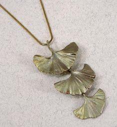 Silver Seasons - Michael Michaud - Large Three Leaf Gingko Pendant