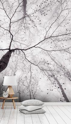 Forest Wallpaper, Photo Wallpaper, Wall Wallpaper, Nordic Living, Scandinavian Living, Custom Wall Murals, Tropical Wallpaper, Black And White Wallpaper, Closer To Nature
