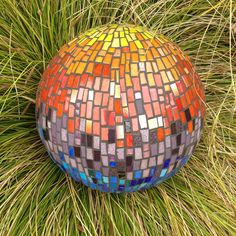 Mosaic sphere - mixed up rainbow colours :)