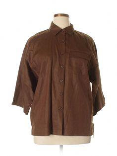 Cheap Womensyellow Raincoat #CheapestRaincoat Post:7348600502 #WomensyellowSlickerRaincoat Button Downs, Button Down Shirt, Chef Jackets, Raincoat, Size 12, Women's Tops, Studio, Brown, Clothes