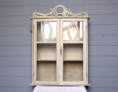 Art Nouveau 1900 French Antique Display CABINET, Bathroom Cabinet, Wooden Display, French Vintage Furniture