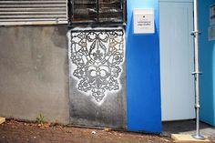 arte de rua com renda - NeSpoon