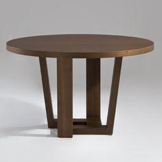 "Quad Round Dining Table walnut tan or teak golden 48"" $899"