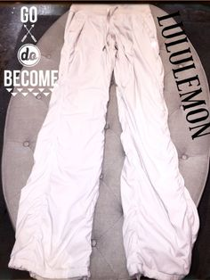 Studio Pant Lined, size 4!  - Another great pair of Lululemon Studio Pant in off-white! No longer in stores!!  #lululemon #lululemonaddict #Workout #musthave #getitnow #posh #consignment #boutique