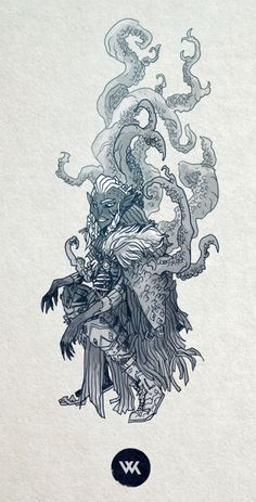 This morning its an ever loveable Drow Warlock