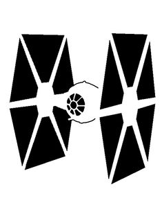 TIE Fighter Stencil // by octokid