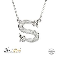 c6a67d642 21 Best Celtic Initial Necklaces, Sterling silver encrusted with ...