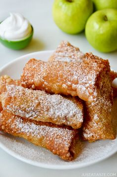 Apple Pie Egg Rolls recipe from justataste.com #recipe #applepie #fall