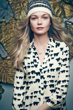 bear buttondown blouse