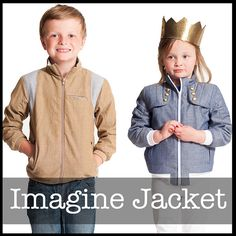 **PDF Sewing Pattern NOT finished Jacket**  The Imagine Jacket is a zip up jacket that can be made as a lightweight jacket perfect for warmer weather or a mid weight jacket ideal for crisp fall days. With loads of options you can create a jacket as unique as your child.  Pattern includes: 2 Shoulder detail options 2 Sleeve styles 3 Piece Sleeve Detailing Ribbing at the cuffs and waist Welt Pockets Fabric buying guide Size chart Full Step by Step color instructions Printable pattern pieces…