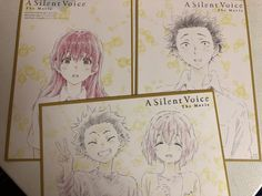 A Silent Voice Movie Promotional Artwork Set Manga Shoko Shoya Art Card A Silent Voice, The Voice, All Anime, Anime Art, Voices Movie, The Art Of Listening, Vocaloid, Anime Songs, Gravity Falls