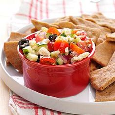 Greek Salsa, This looks so Heavenly...maybe if I eat it Uncle Jesse will stop by ;-) One Could Only Hope!!!
