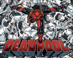 Aquarius Deadpool Mirror 52 Tarjetas Tarjeta de Felicitaci/ón