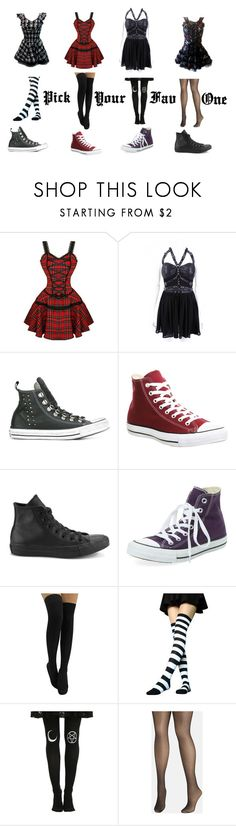 """""""Pick Your Fav One"""" by eleni-bluemoon ❤ liked on Polyvore featuring interior, interiors, interior design, home, home decor, interior decorating, H & R London, Hell Bunny, Converse and Clinical Care Skin Solutions"""