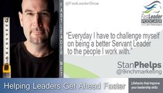 """""""Everyday I have to challenge myself on being a better Servant Leader to the people I work with."""" @9inchmarketing http://goo.gl/fusqTd #leadership #hr"""