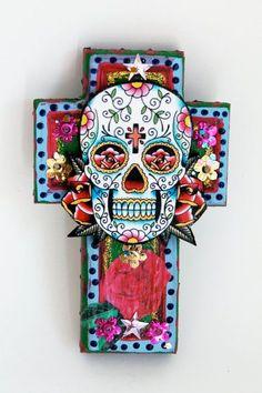 Lecture d'un message - mail Orange Sugar Skull Decor, Sugar Skull Art, Sugar Skulls, Mexican Skulls, Mexican Folk Art, Day Of The Dead Skull, Candy Skulls, Mayan Symbols, Viking Symbols