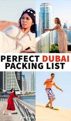 What to wear in Dubai, Dubai packing list, what to wear in Dubai in summer, what to wear in Dubai in winter, Dubai packi Dubai Travel Guide, Packing Tips For Travel, Nightlife Travel, Travel Checklist, Packing Lists, Dubai City, Dubai Mall, Dubai Trip, Dubai Burj Khalifa