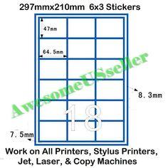 X  Sticker Per A Sheet  Brown Kraft PreCut Papers