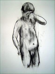 Antony Micallef, Study of a boy. Charcoal on paper. 100cm x 80cm