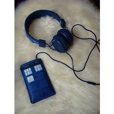 Doctor Who/TARDIS iPhone case and head phones.