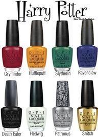 Harry Potter nail polish.