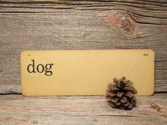 Vintage Flash Card Dog and Dogs Two Sided