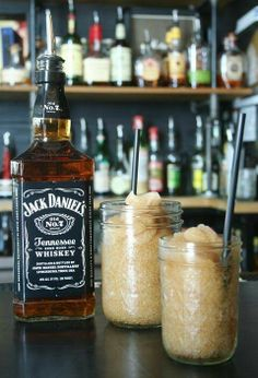 Jack Daniels Slushy:  INGREDIENTS: 2 cans of cold Coca-Cola (can also use diet Coke), 6 ounces limeade concentrate, 6 ounces Jack Daniels (chilled),  DIRECTIONS: 1. Combine the cola, limeade bourbon with a whisk into a large bowl. 2. Place in freezer overnight. 3. The next day, use a whisk to chop up the mixture, and serve.
