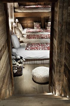 this is the bunk room inside my dream cabin, room for all my friends!