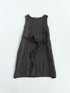 raising linen apron one-piece