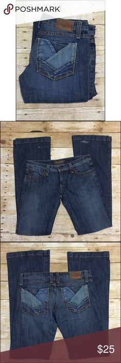 FRANKIE B. Denim Frankie B. Denim Jeans in great condition other then some wear on the bottom back legs shown in pic. These are a sz 6, inseam 34 ( sold as is price reflects defect )  Not too noticeable if hemmed these would be a perfect pair of Frankie B's 😍 Frankie B. Jeans Flare & Wide Leg