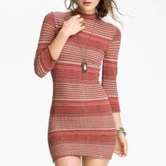 "✨HOST PICK✨ NWT Free People Sweater Dress create a clingy, curve-hugging dress with plenty of vintage-inspired appeal!  Approx. length from shoulder: 37 1/2"" Free People Dresses"