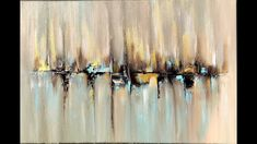 Skyline, abstract painting with Acrylic, abstract art, acrylpainting Abstract Painting / Easy /How to paint acrylic abstract painting /Just using palette knife / Demo Demonstration of abstract art painting in acrylics using a palette knife and a brush. Ikat Painting, Abstract Painting Easy, Abstract Painting Techniques, Abstract Art, Skyline Painting, Abstract Portrait, Painting Canvas, Abstract Flowers, Abstract Landscape