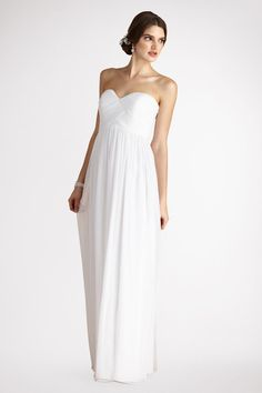 For the bride or bridesmaids! What do you think? #white #bridesmaids #dress {Donna Morgan}