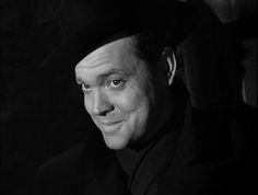 "Orson Welles as Harry Lime in ""The Third Man""."